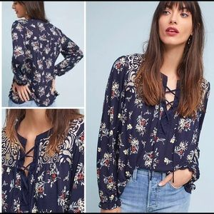 Anthropologie One September Sydney Embroidered Top